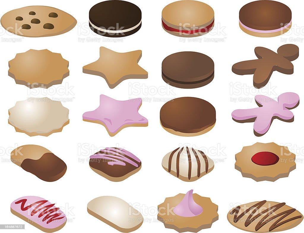 クッキーのアイコン ロイヤリティフリーのイラスト素材