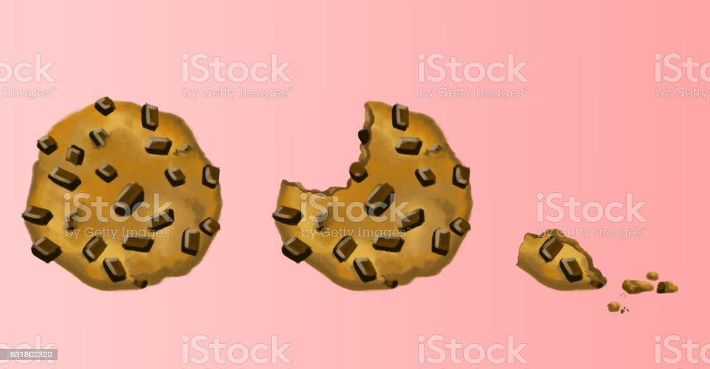 Cookie Progression vector art illustration