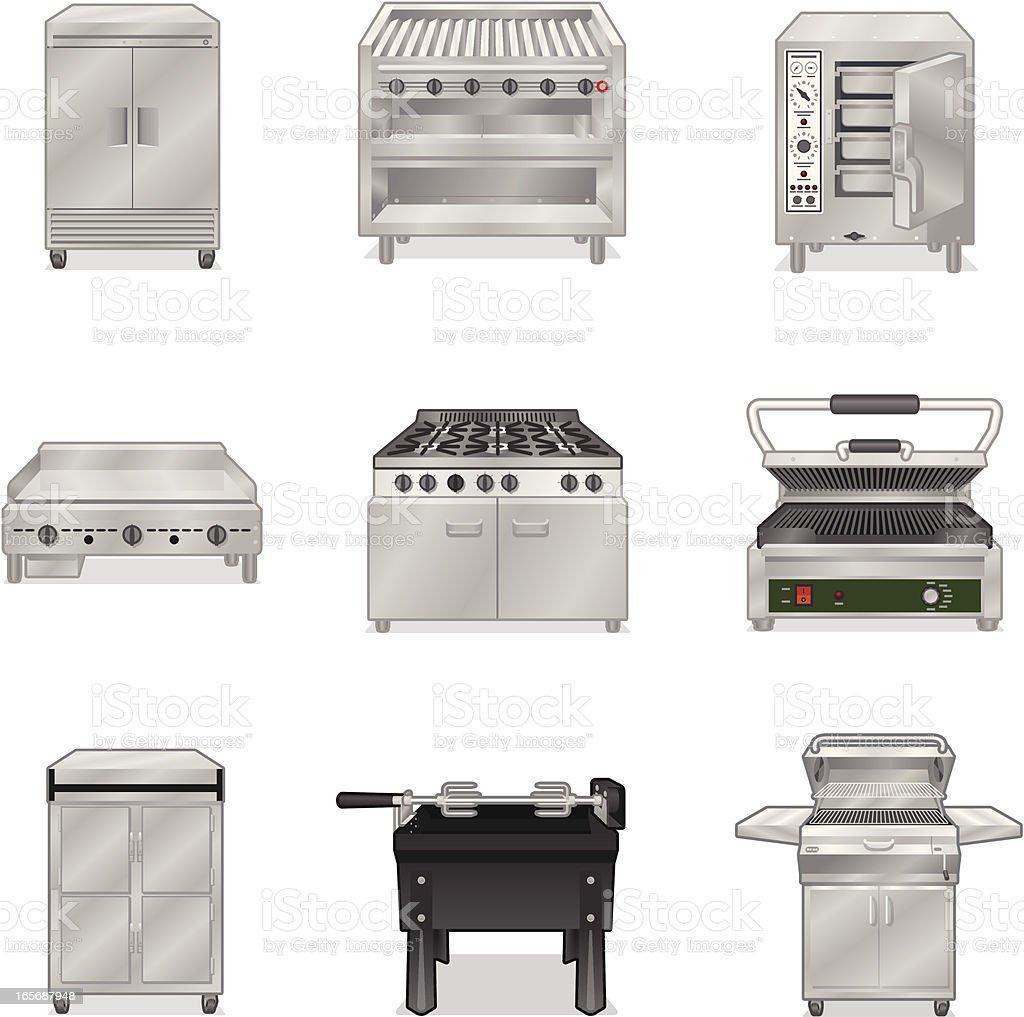 Cooking Appliances vector art illustration