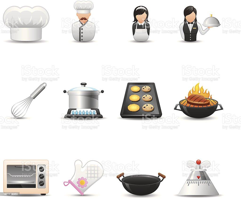 Cooking & Restaurant Icon Set| Elegant Series royalty-free stock vector art