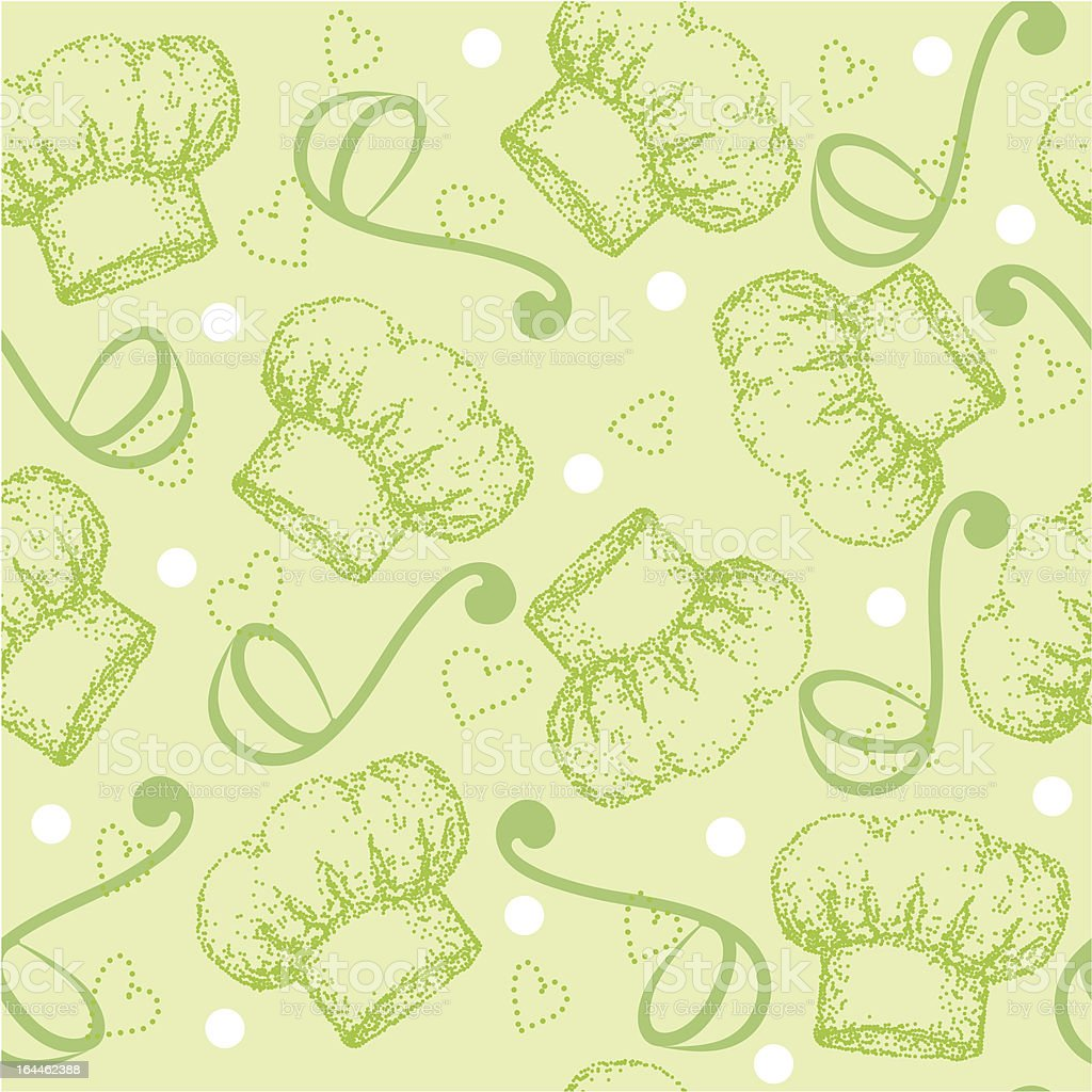 Cooking seamless pattern with chef hat royalty-free stock vector art