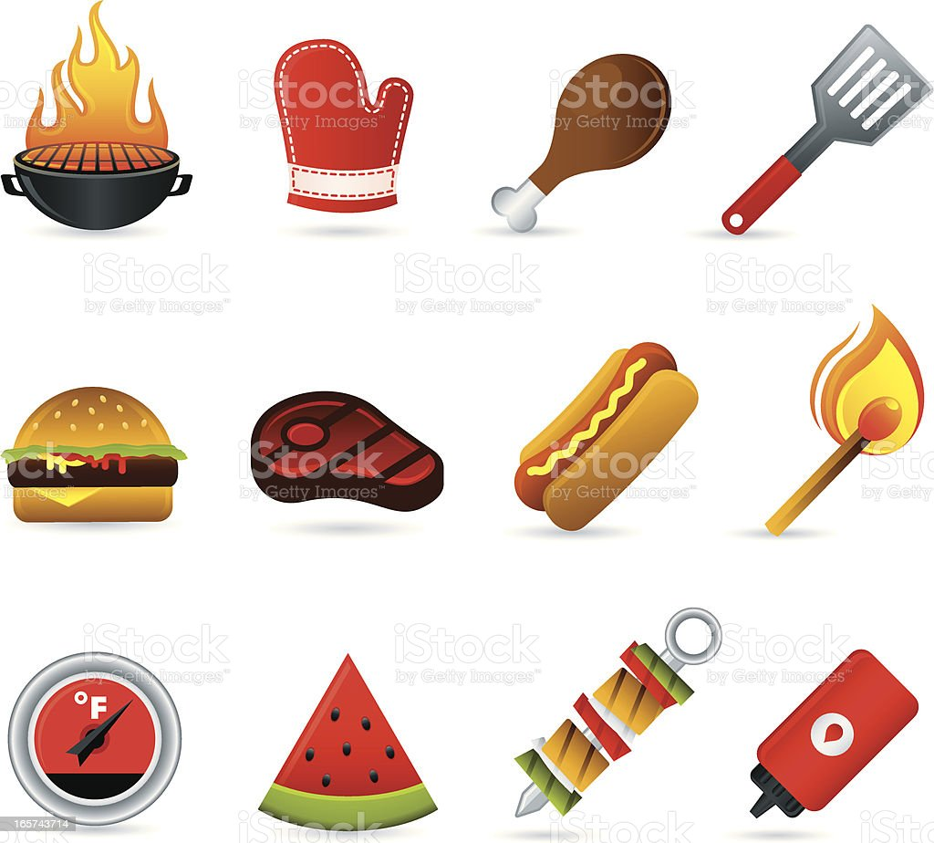 Cookout border clipart hot dog cookout invite stock vector art - Cookout Icons Royalty Free Stock Vector Art