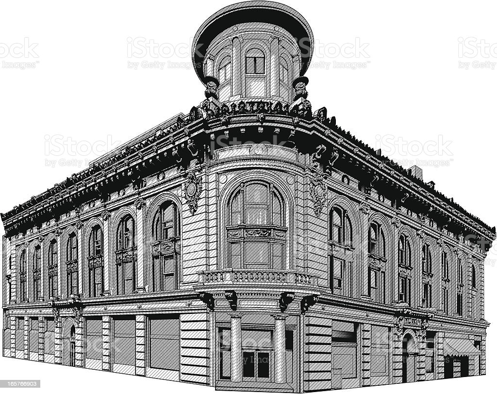 Cool architecture old building illustration vector art illustration