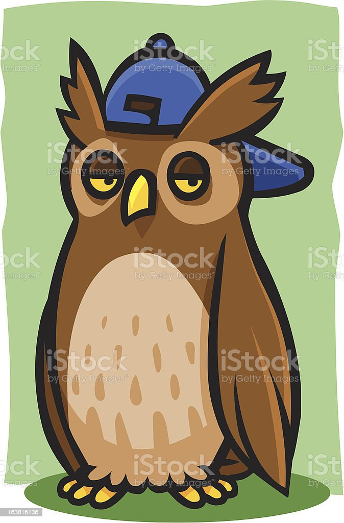 Cool Horned Owl royalty-free stock vector art