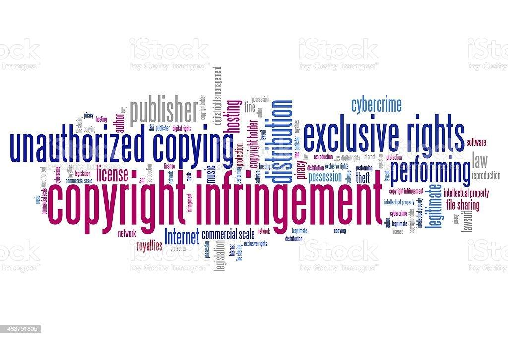 Copyright infringement vector art illustration
