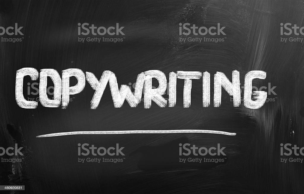 Copywriting Concept vector art illustration
