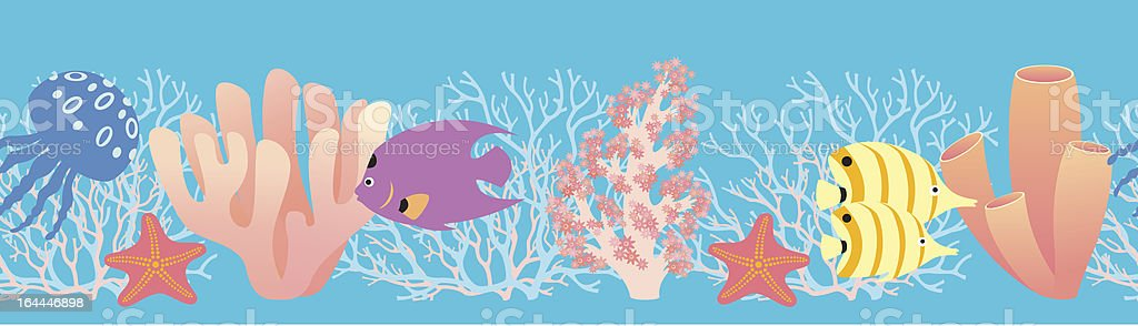 Coral reef pattern royalty-free stock vector art