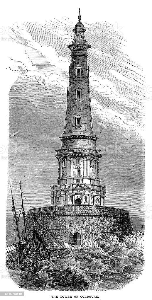 Cordouan Lighthouse royalty-free stock vector art