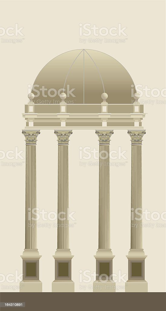 Corinthian Temple royalty-free stock vector art