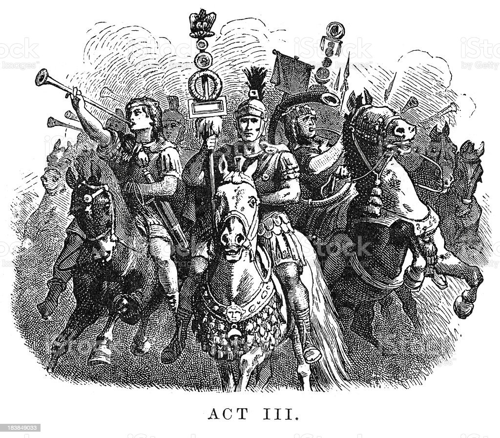 Coriolanus - Act III vector art illustration