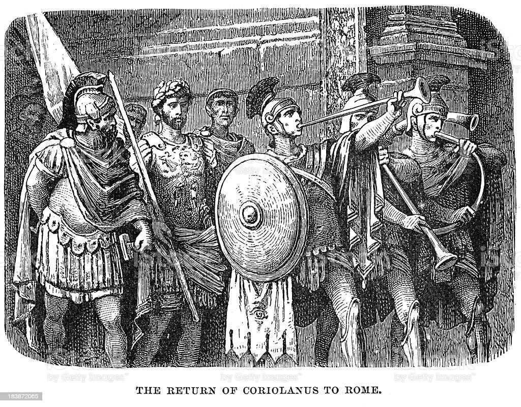Coriolanus - Return To Rome vector art illustration