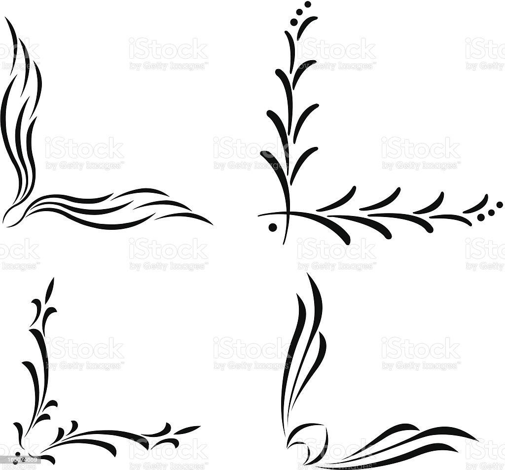 Corner celtic art vector art illustration