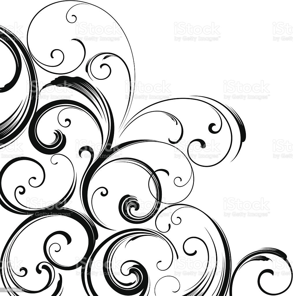 Corner motif design vector art illustration