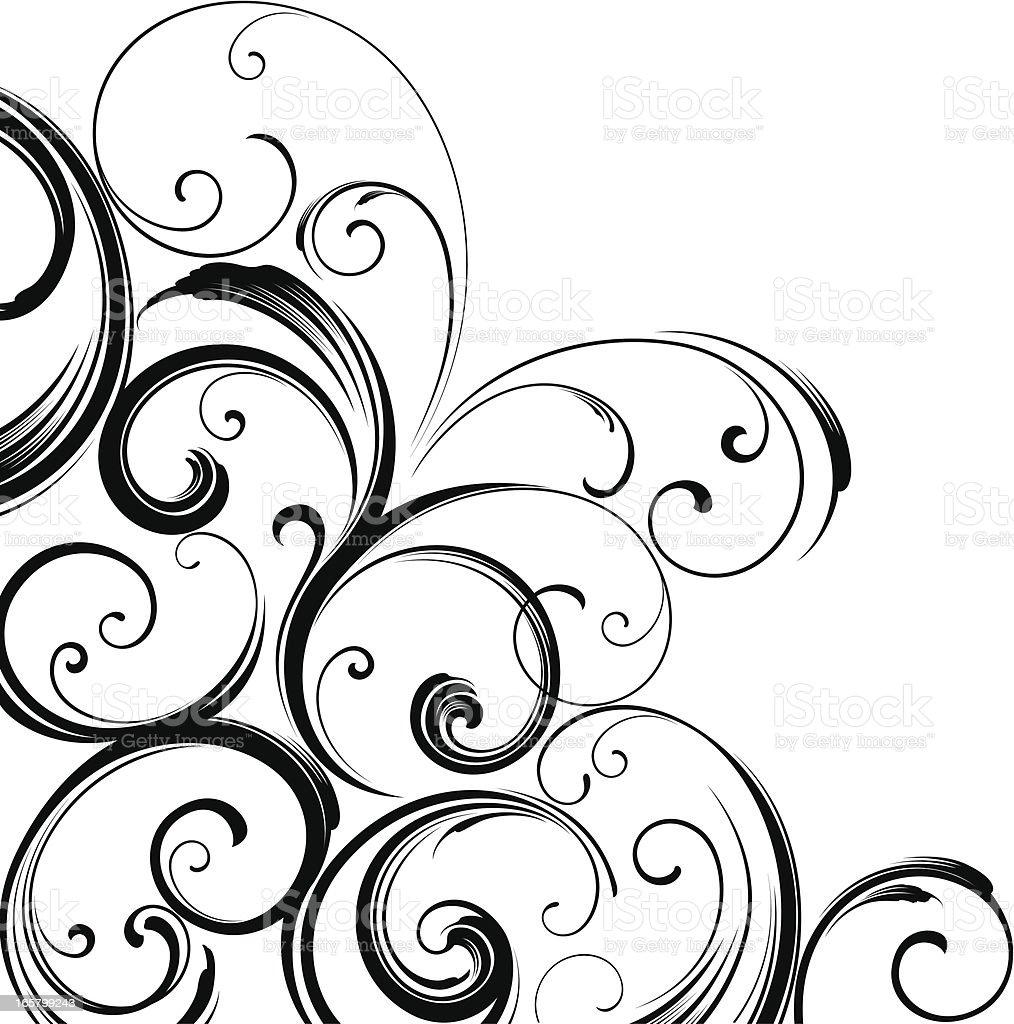 Corner motif design vector art illustration
