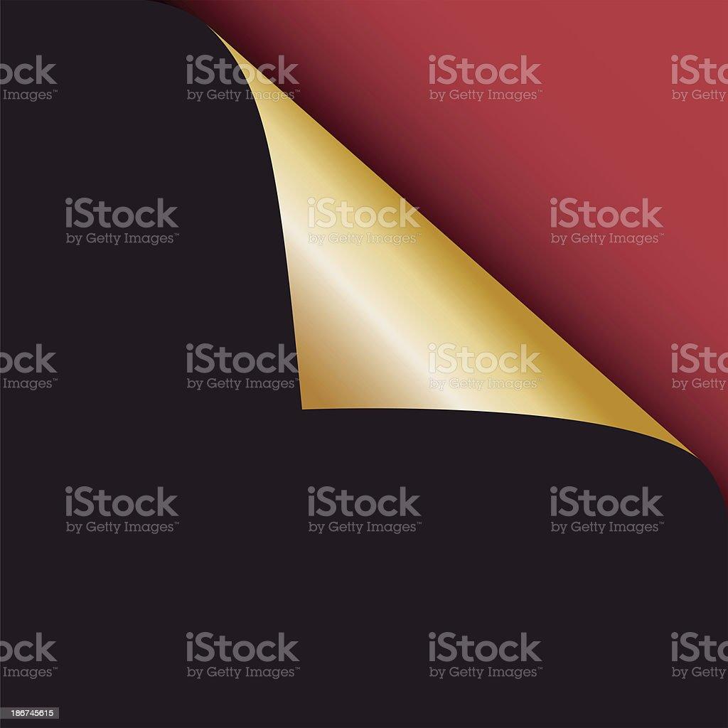 Corner page turn - raster image vector art illustration
