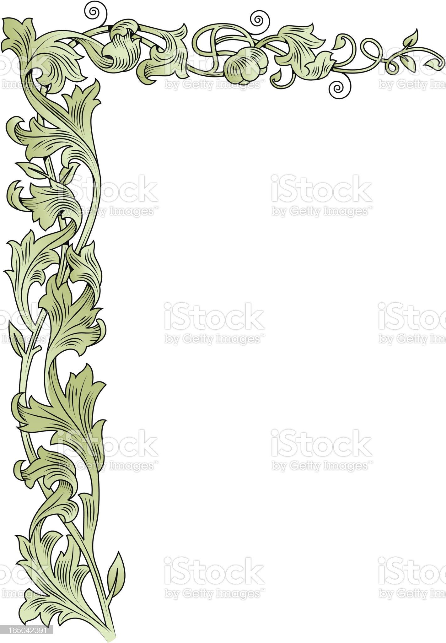 Corner scroll royalty-free stock vector art