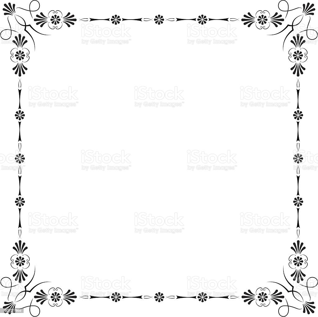 Corners and borders royalty-free stock vector art