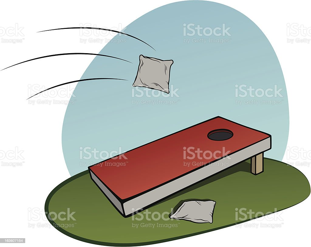 Cornhole vector art illustration