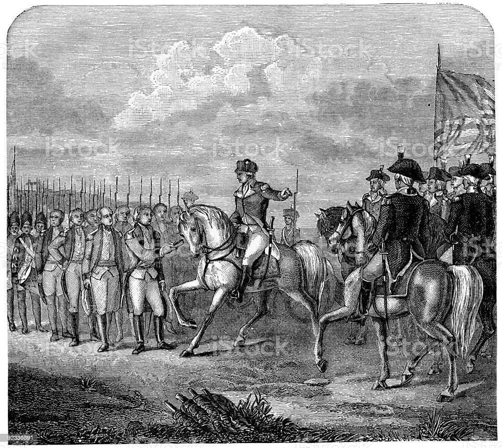 Cornwallis's Surrender royalty-free stock vector art