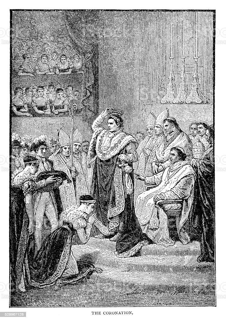 Coronation Of Napoleon vector art illustration