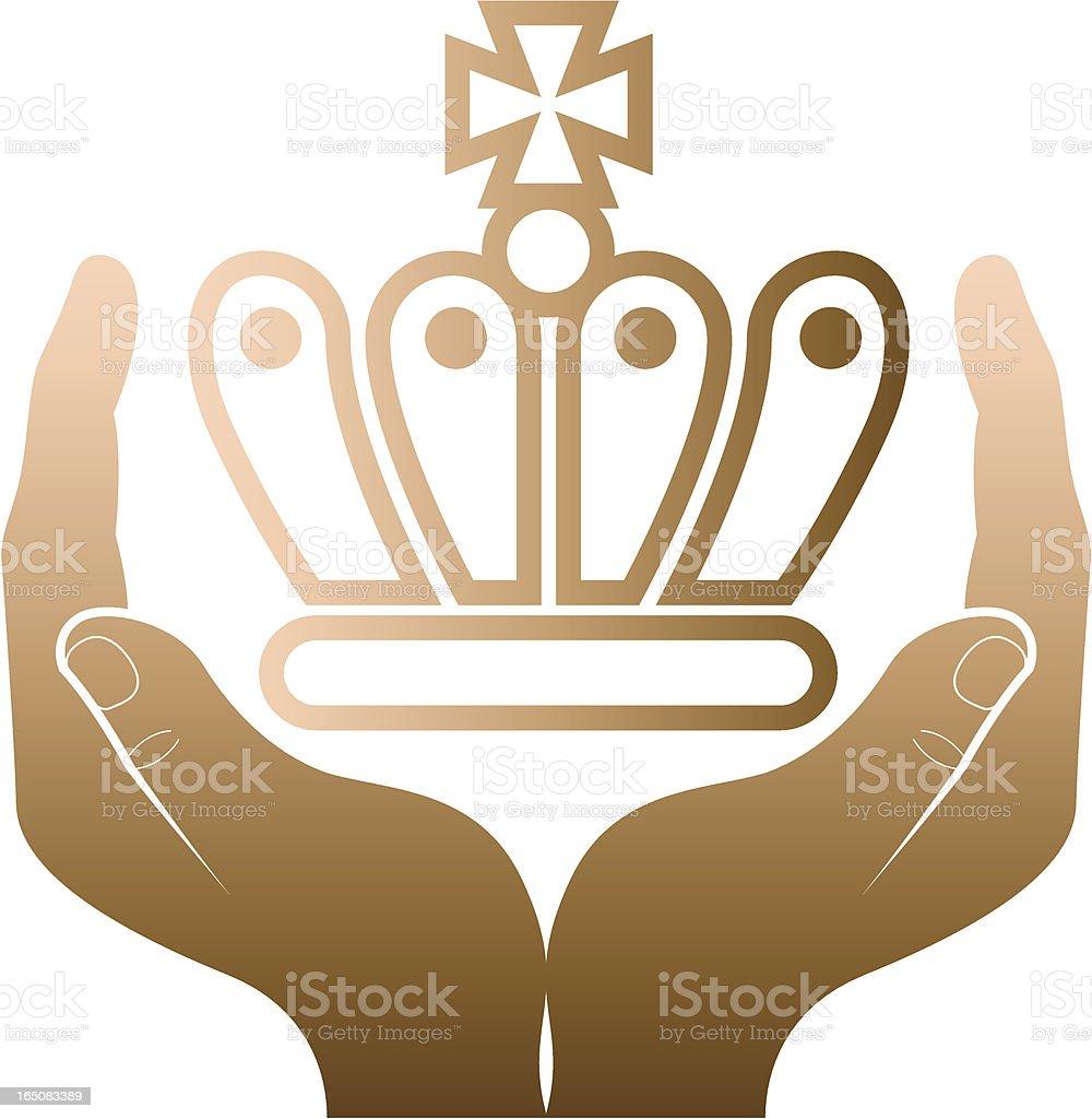 Coronation two. royalty-free stock vector art
