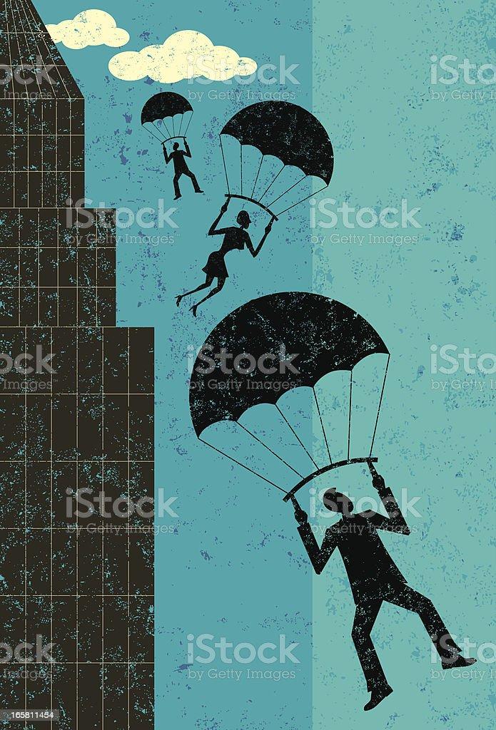 Corporate bailout vector art illustration