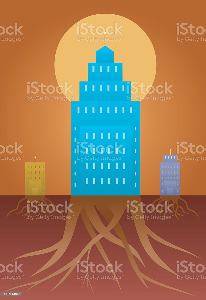 Corporate Giant royalty-free stock vector art