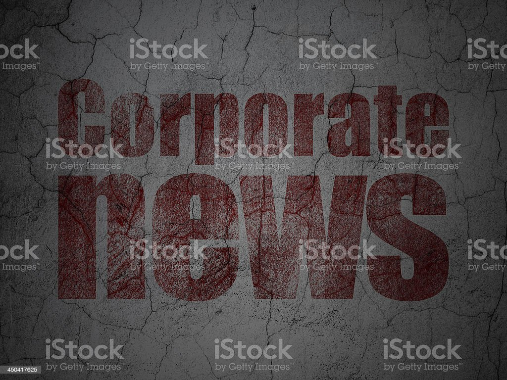 Corporate News on grunge wall background royalty-free stock vector art
