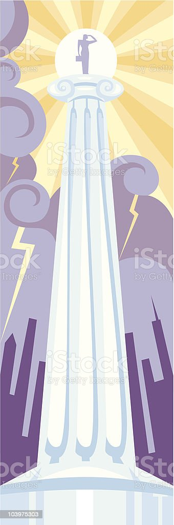 Corporate pedestal royalty-free stock vector art