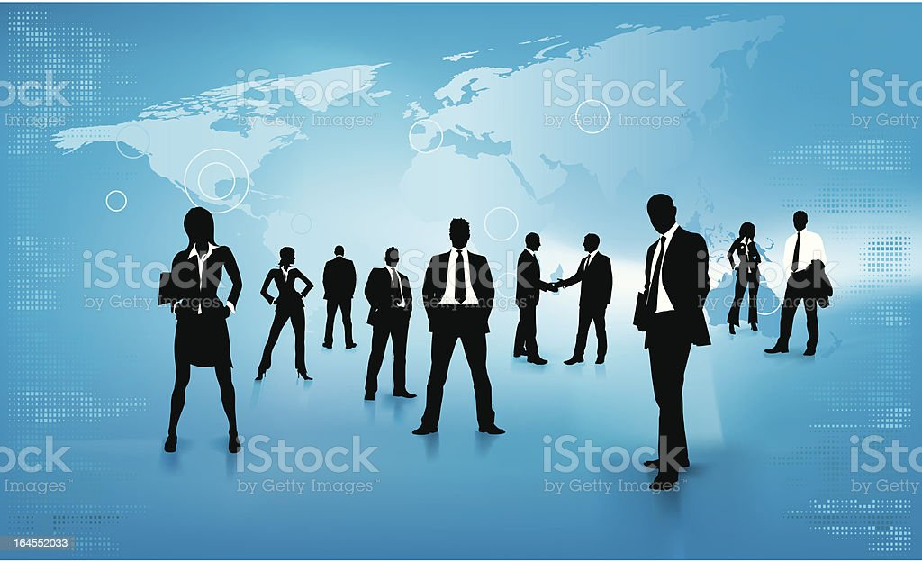 Corporate people background vector art illustration