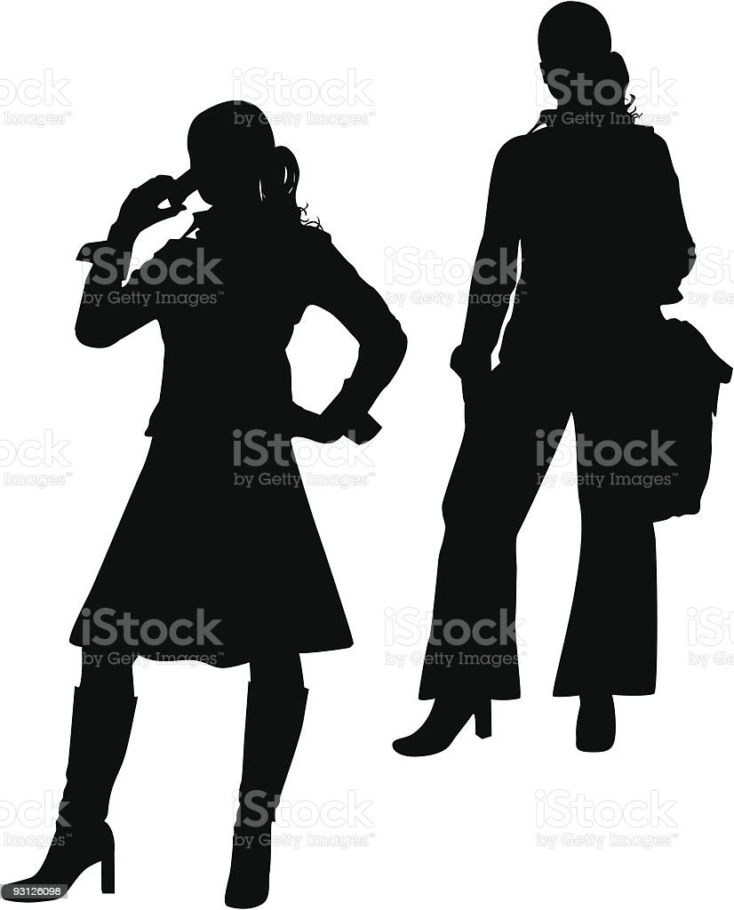 Corporate Women royalty-free stock vector art