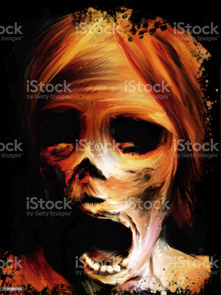 Corpse - Digital Painting vector art illustration