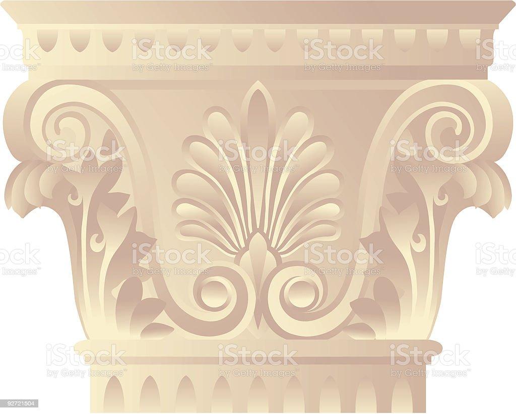 corynthian capital royalty-free stock vector art