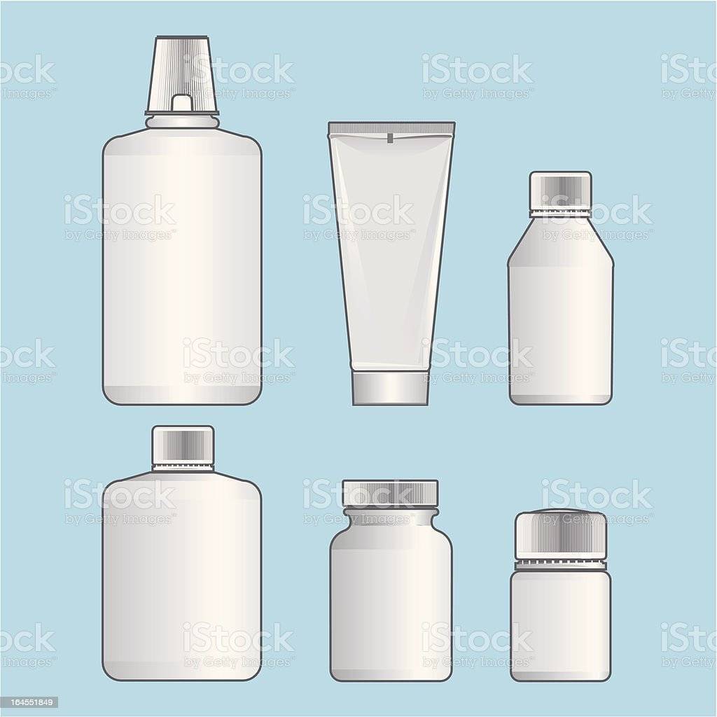 Cosmetic and medicine package vector art illustration