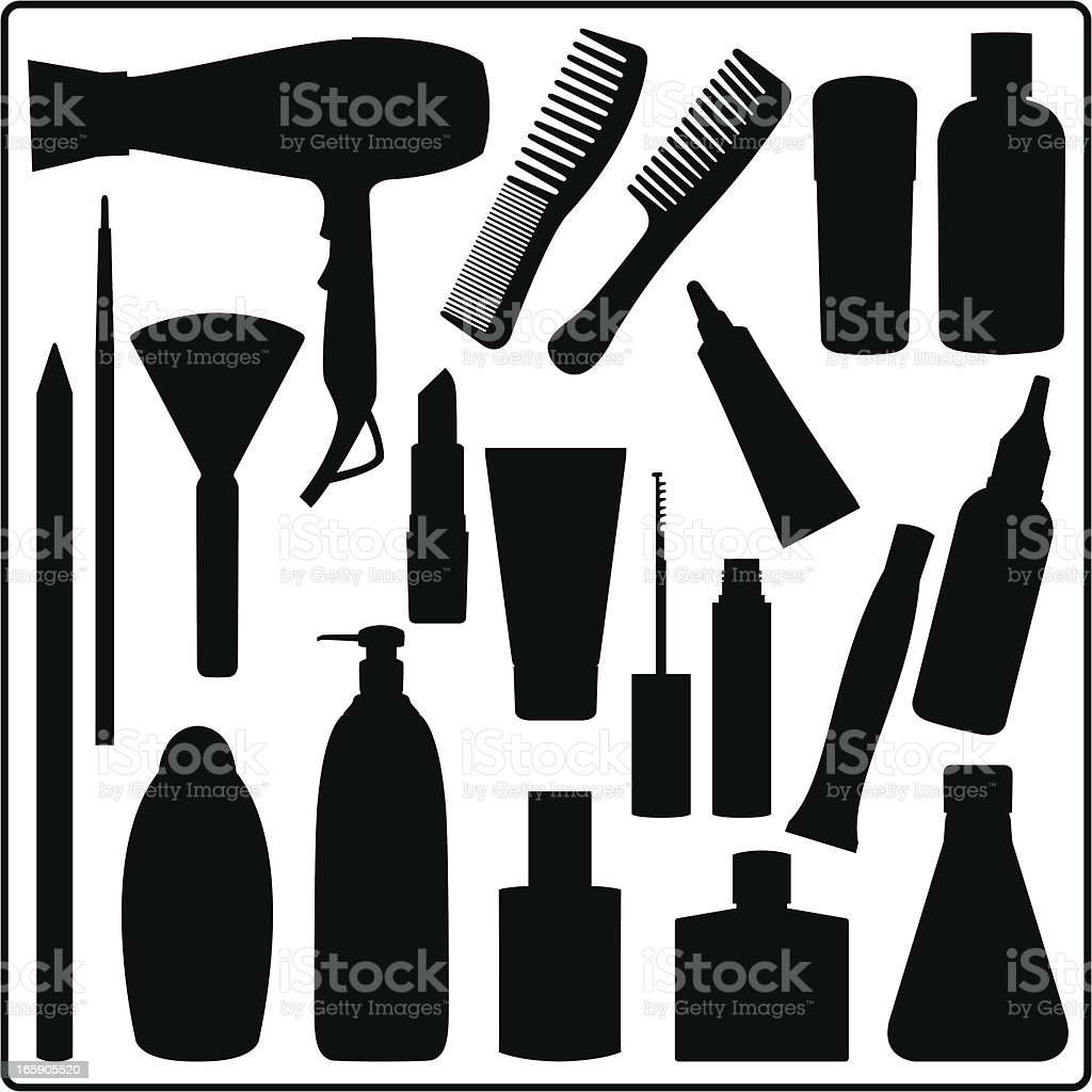 Cosmetic Materials royalty-free stock vector art