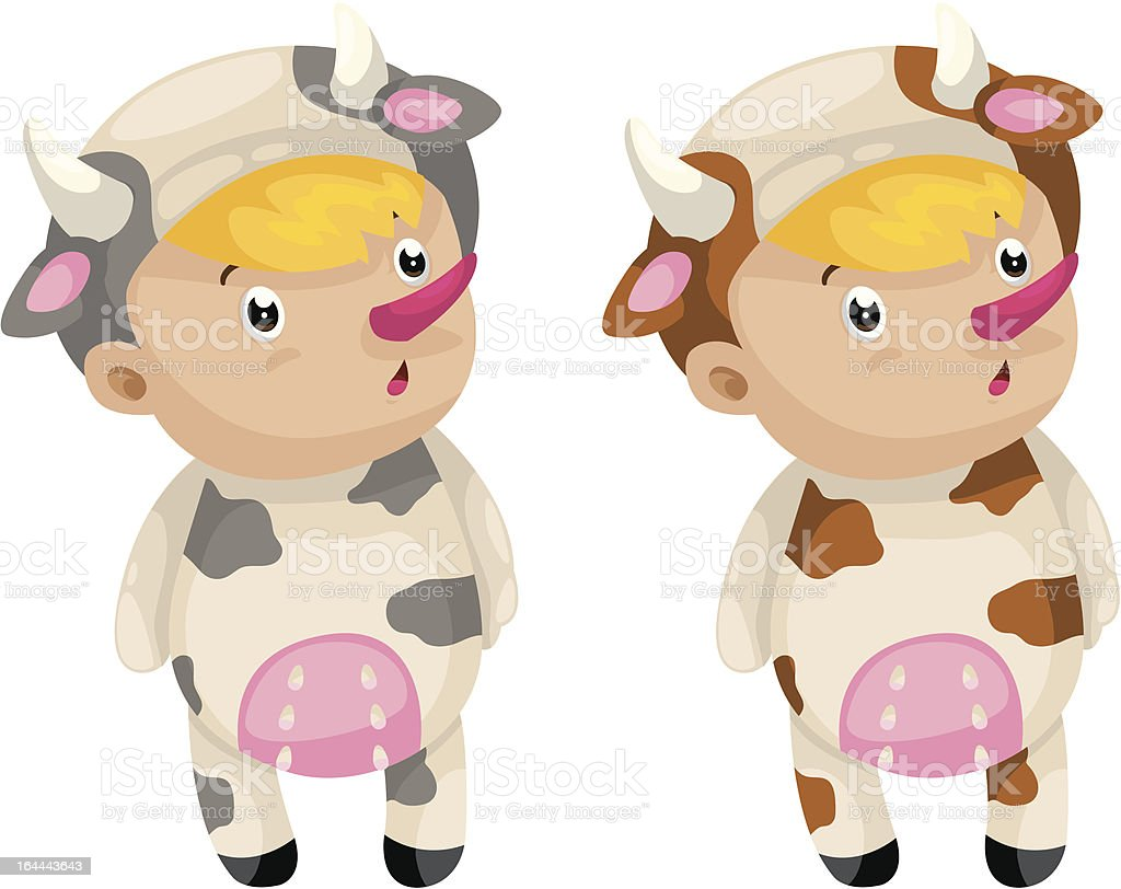 cosplay cow royalty-free stock vector art
