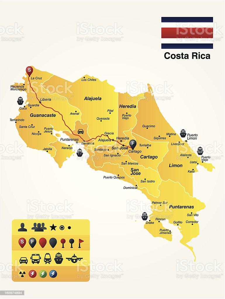 Costa Rica vector art illustration