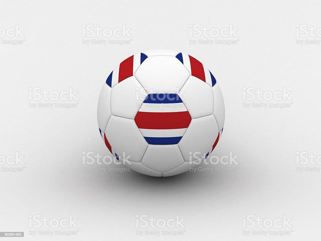 Costarica soccer ball royalty-free stock vector art