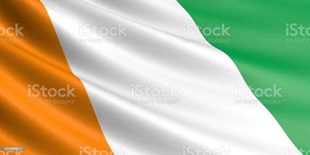Cote d'Ivoire flag. royalty-free stock vector art