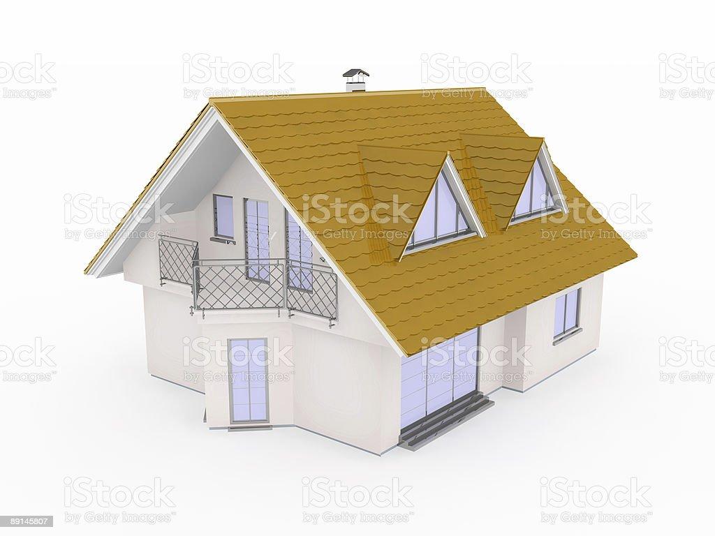 'Cottage' XXL 3d house royalty-free stock vector art