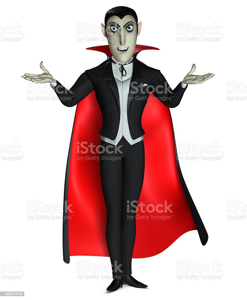 Count Dracula royalty-free stock vector art