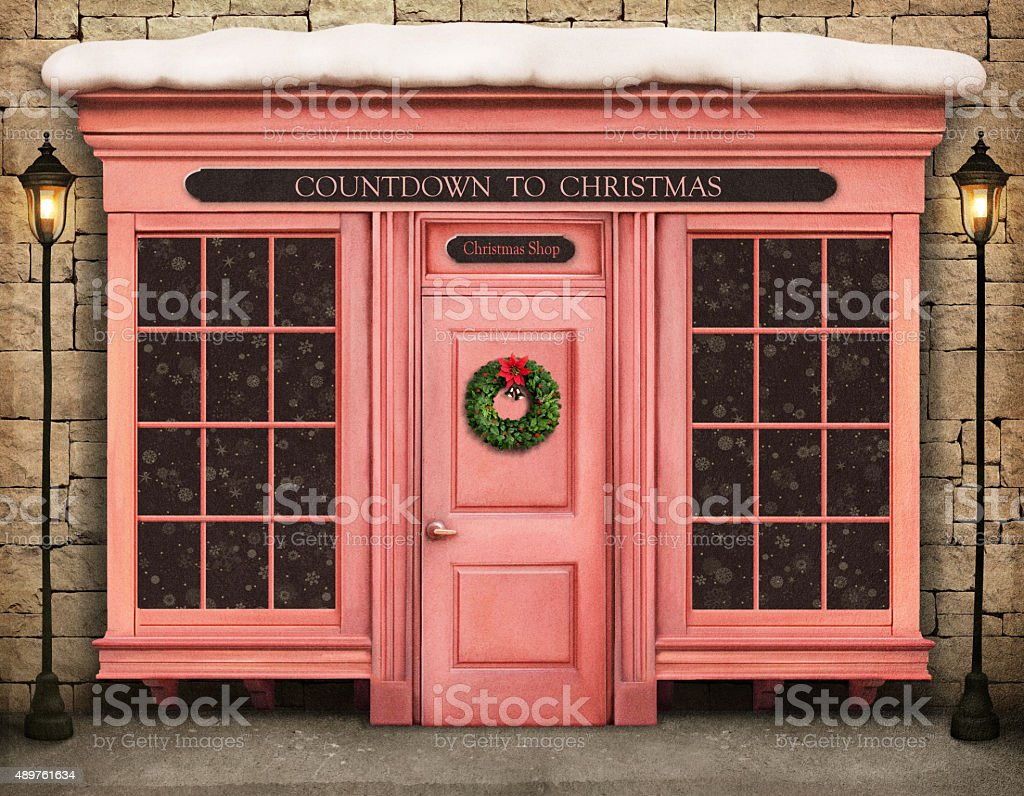 Countdown to Christmas vector art illustration