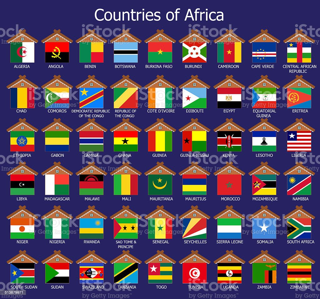 Countires of Africa vector art illustration
