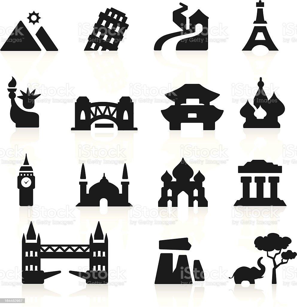 Countries icons set elegant series vector art illustration
