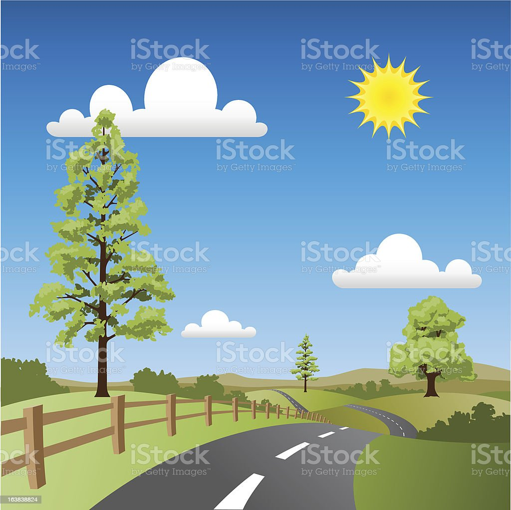 Country Landscape royalty-free stock vector art
