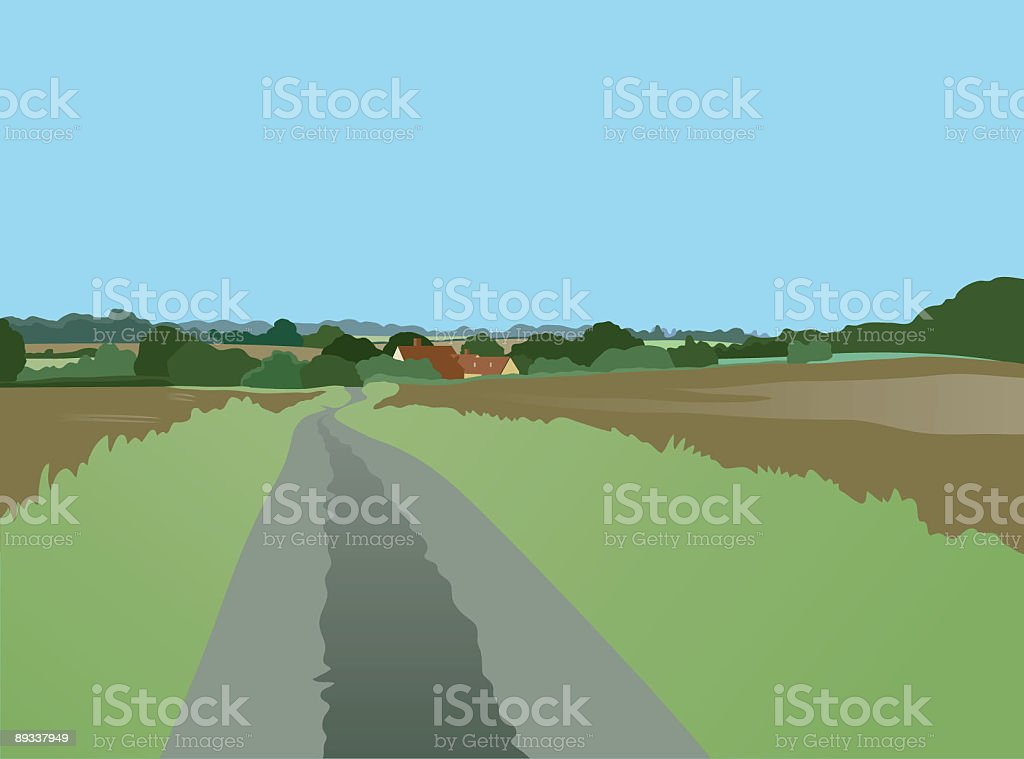 Country lane. royalty-free stock vector art