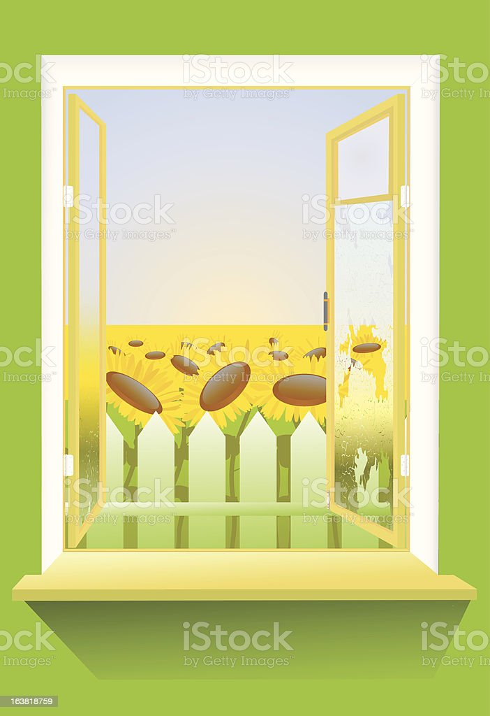 country window royalty-free stock vector art