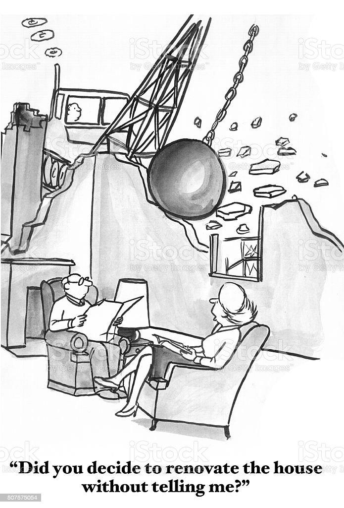 Couple Communicates Poorly vector art illustration