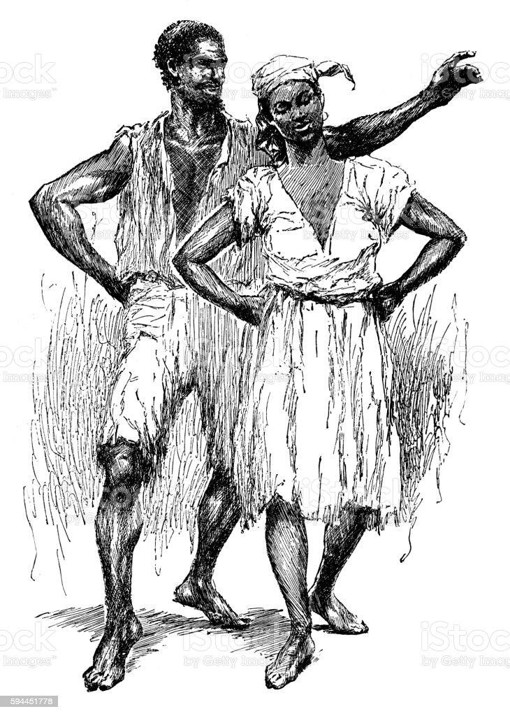 Couple Dancing vector art illustration
