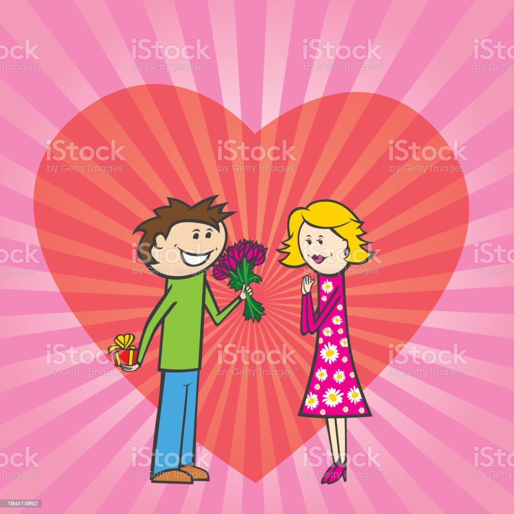 couple on valentine day royalty-free stock vector art